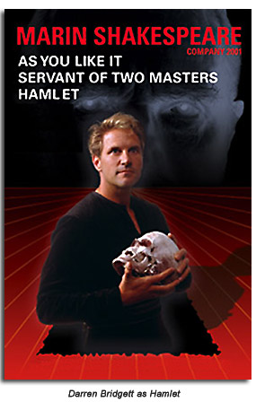 Darren Bridgett as Hamlet - Marin Shakespeare Company 2001