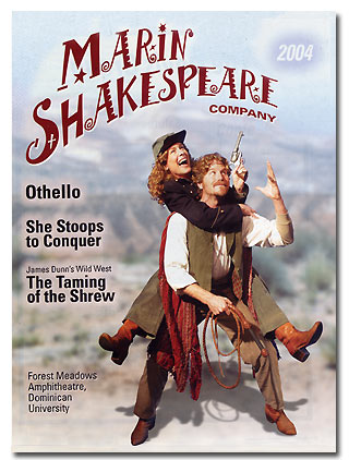 Kate and Petruchio in Marin Shakespeare's 2004 Wild West Version of The Taming of the Shrew
