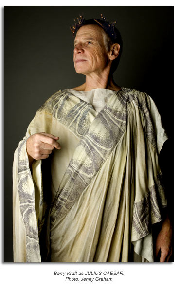 Barry Kraft as Julius Caesar - Marin Shakespeare 2009