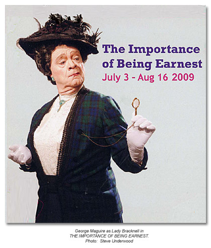 George Maguire as Lady Bracknell in The Importance of Being Earnest