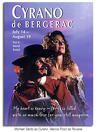 Michael Santo as Cyrano  Marcia Pizzo as Roxane - 2000