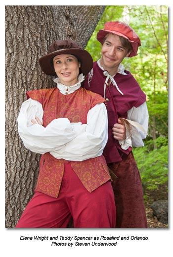 As You Like It - Elena Wright and Teddy Spencer as Rosalind and Orlando
