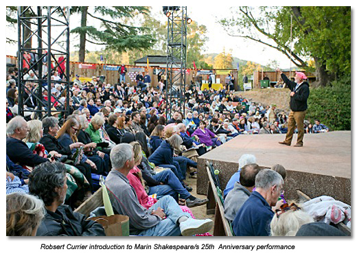 Marin Shakespeare Company celebrated its Silver Season with the opening night of AS YOU LIKE IT.