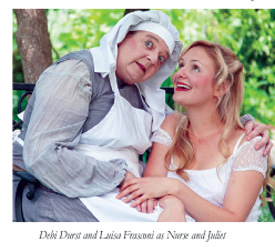 Debi Durst and Luisa Frasconi as Nurse and Juliet