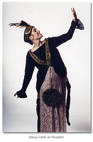 Nancy Carlin as Rosealind in As You Like it 1990