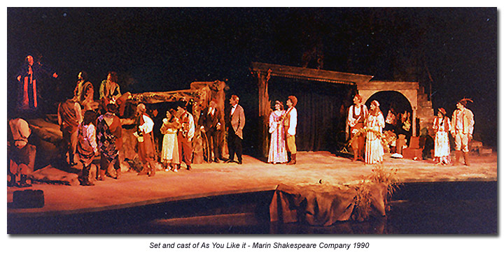 cast of As You Like It 1990 - Marin Shakespeare Company