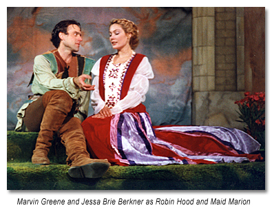 """Marvin Green as Robin and Jessa Brie Berkner in the 1997 """"Robin Hood"""""""