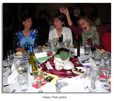 Happy party goers