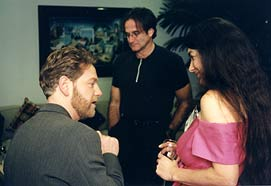 Kenneth Brnagh, Robin Williams and Lesley Currier
