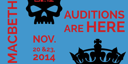 Marin Shakespeare Teen Touring Auditions Nov. 20 & 23
