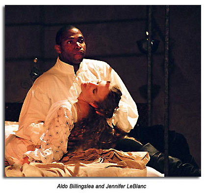 Othello and Desdemona death scene