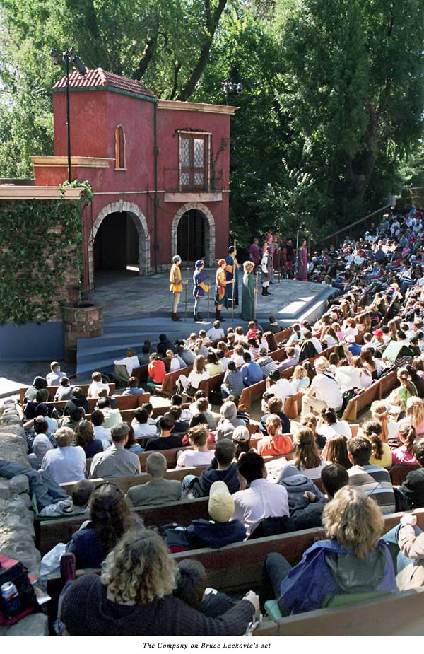 audience at Marin Shakespeare's 2005 performance of Romeo & Juliet