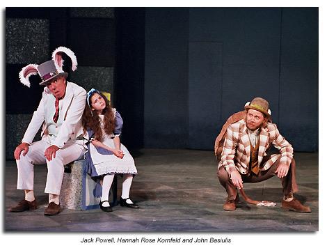 Mock Turtle, Alice and Rabbit