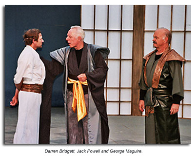Kent,  Gloucester and Edmund from King Lear