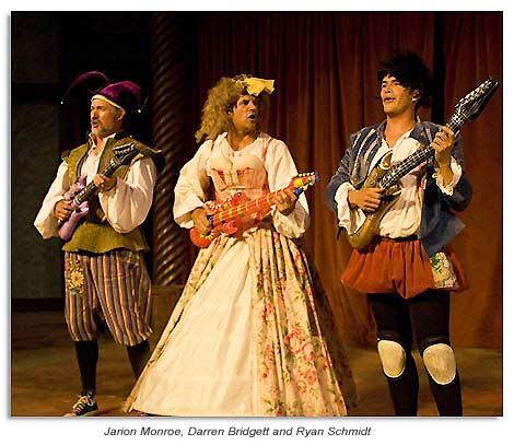 Jarion Monroe, Darren Bridgett and Ryan Schmidt in The Complete Works of William Shakespeare (abridged)