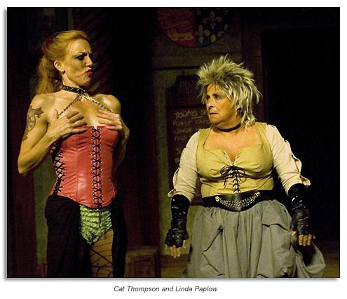 Doll Tearsheet and Mistress Quickly from Shakespeare's  Henry IV part 2, presented by Marin Shakespeare Co.