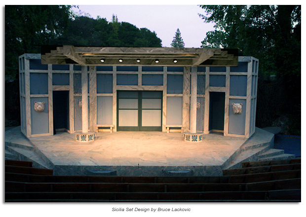 set from The Winter's Tale, set design by Bruce Lackovic