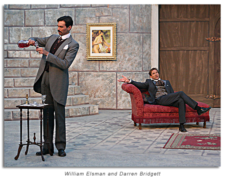 William Elsman as John Worthing and Darren Bridgett as the despicably debonair Algernon Moncrieff