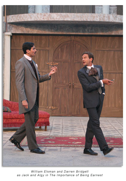 William Elsman as John Worthing and Darren Bridgett as  Algernon Moncrieff