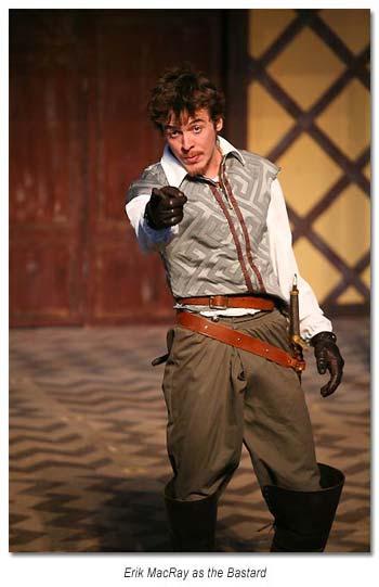 The Bastard - Philip Faulconbridge from King John 2012, Marin Shakespeare