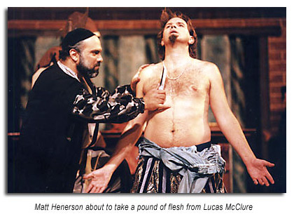 a pound of flesh from The Merchant of Venice
