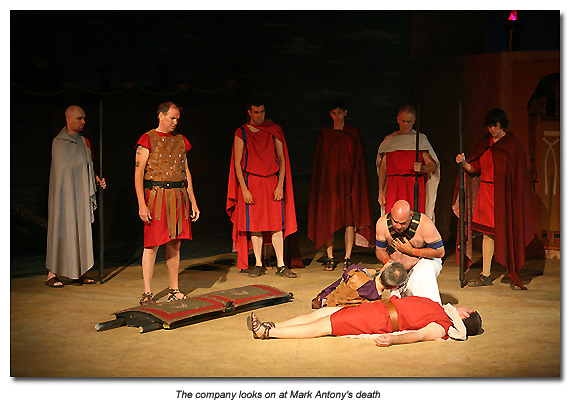 final scene of antony and cleopatra