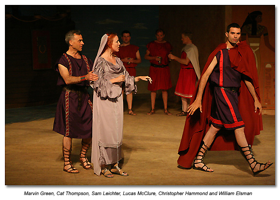 Marin Shakepeare- Antony and Cleopatra - Antony and his wife, and her brother Octavius