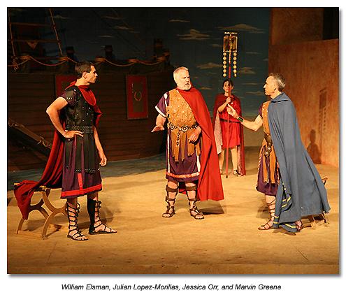 Octavius and Antony argue
