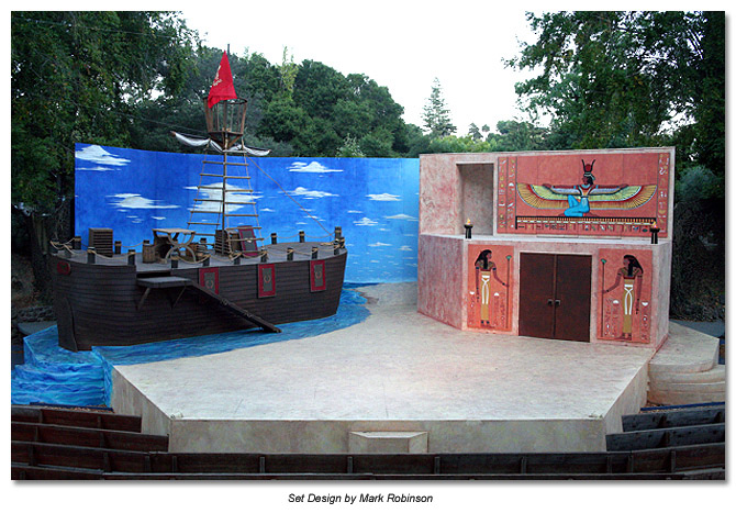 Set of Antony and Cleopatra- Marin Shakespeare 2010