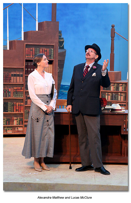 Lucas McClure as Joyce in Stoppard's Travesties