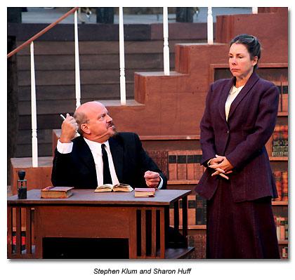 Stephen Klum as Lenin in Stoppard's Travesties