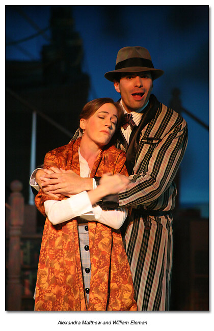Alexandra Matthew and William Elsman in Travesties