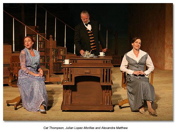 Julian Lopez-Morilla as Bennett, Carr's butler in Travesties