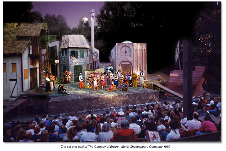 Set and cast from Comedy of Errors - Marin Shakespeare 1992