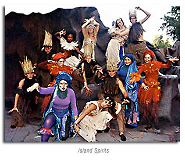 Island spirits from the Tempest