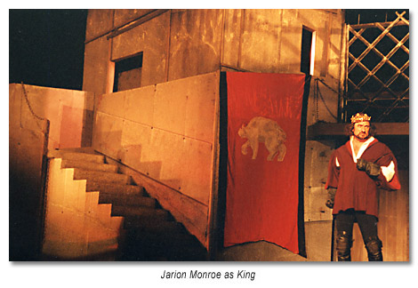 Jarion Monroe as King Richard III - Marin Shakespeare Company 1995