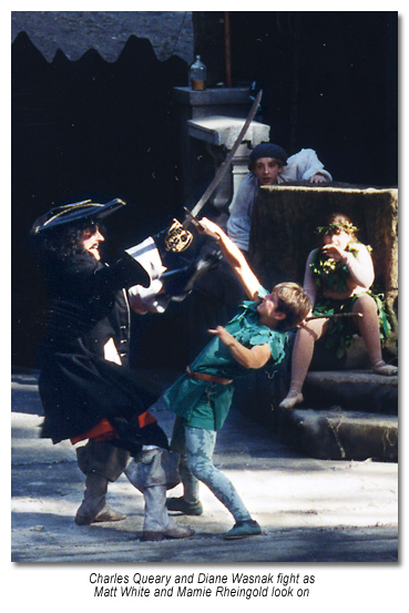 Hook and Peter Pan fight, Marin Shakespeare - 1996