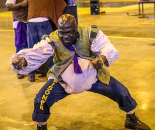 Inmates perform HENRY IV, PART 1 at Duele Vocational Institution in Tracy